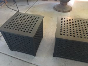 Black wood coffee and end table for Sale in Chandler, AZ