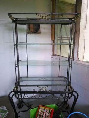 Glass antique wine shelf for Sale in Orlando, FL