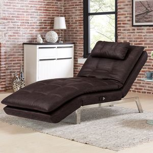 CLEARANCE | Serta Valencia Leather Chaise, Brown | NEW OPEN BOX for Sale in San Diego, CA