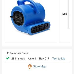 Air Mover High Velocity Fan for Sale in Palmdale, CA