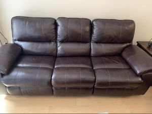 Power Recliner Leather Sofa and Loveseat for Sale in Washington, DC