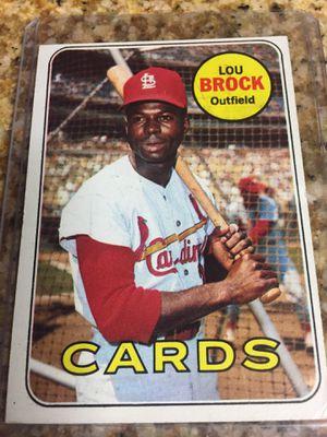 Baseball cards, 1969 Lou Brock $50 for Sale in Lomita, CA