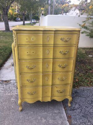 Antique French oak wood dresser for Sale in Miami Beach, FL