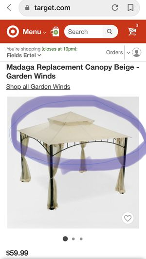 MADAGA REPLACEMENT GAZEBO TOP for Sale in Loveland, OH