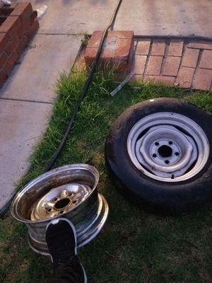 14 inch 5x4.75 Chevrolet wheels 5 lug for Sale in San Diego, CA