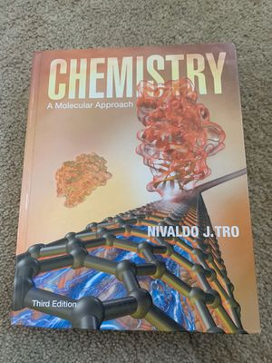 BRAND NEW CHEMISTRY TEXTBOOK CHEMISTRY A MOLECULAR APPROACH 3rd Edition for Sale in Everett, WA