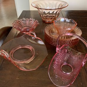 Fabulous Vintage Pink Glass for Sale in Fallbrook, CA
