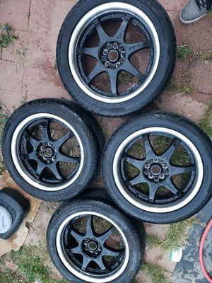 "17"" Ff7 Motegi wheels for Sale in Denver, CO"