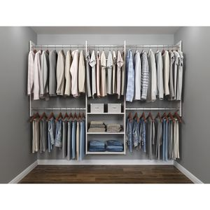 14 in. D x 96 in. W x 72 in. H Classic White Wood Deluxe Starter Closet Kit for Sale in Tempe, AZ