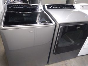 🏭whirlpool cabrio washer XL large capacity dryer electric steam nice set🏭 for Sale in Houston, TX