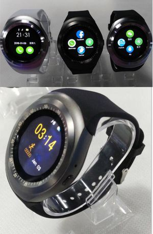 New bluetooth smartwatch touch screen suport SIM card or connect bluetooth compatible iOS or android phone smartphone for Sale in Los Angeles, CA