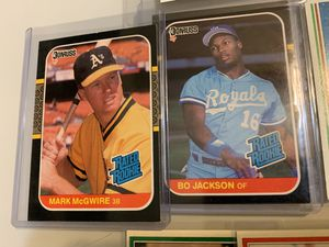 Mark McGwire & Bo Jackson Rated Rookies 1987 Donruss for Sale in Upland, CA