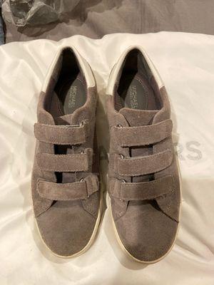 Michael Kors grey suede sneaker size 6 for Sale in San Dimas, CA