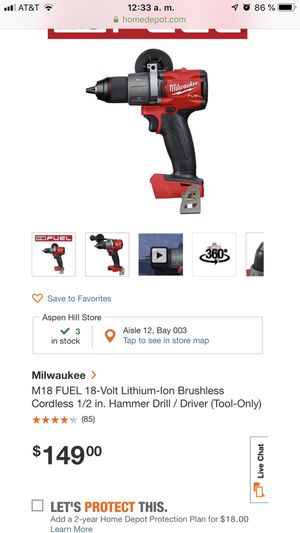 MILWAUKEE HAMMER DRILL NEW for Sale in Silver Spring, MD