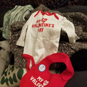 My First Valentines Day Onsie And Bib 3MO for Sale in Portland, OR