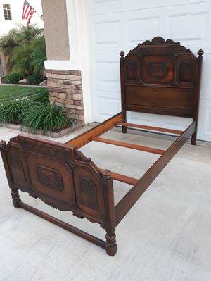 "ANTIQUE ""ANGELUS FURNITURE"" TWIN SIZE BED FRAME W/ RAILS & SUPPORTS (3 × SETS AVAILABLE) for Sale in Corona, CA"