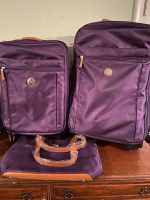 Joy Mangano Purple 3 piece luggage set for Sale in Severn, MD