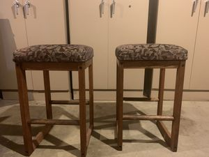Wooden Stools - sturdy, comfortable, in excellent condition for Sale in Seattle, WA