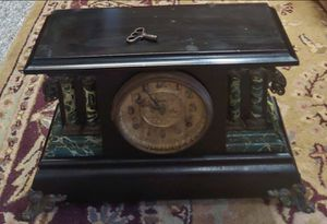 Antique WML Gilbert Wind Up Mantel Clock With Key for Sale in Burlington, NC
