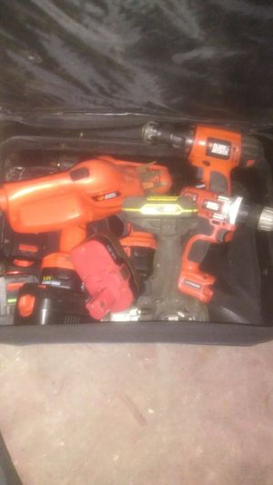 Black & decker drills no charger for Sale in Bell, FL