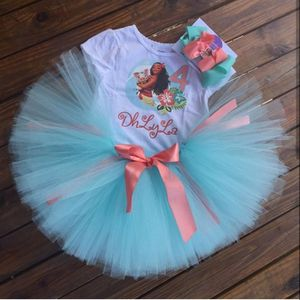 Personalized Young Moana Birthday Tutu Outfit Set for Sale in Miami, FL
