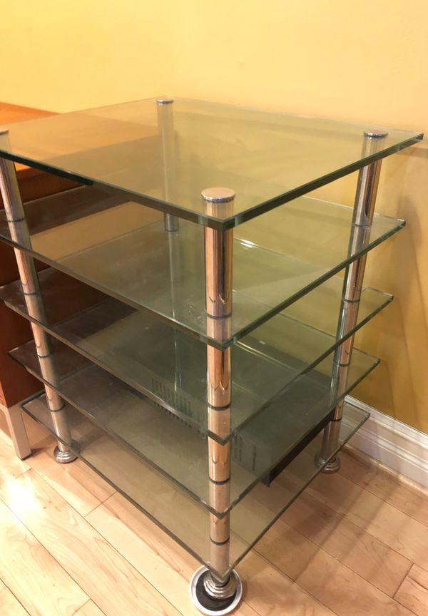 End glass table