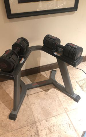 Weider 90 dumbbell with stand for Sale in Las Vegas, NV