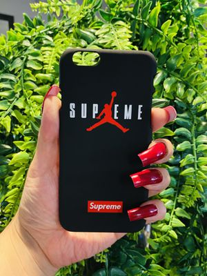 Brand new cool iphone 6, 6s REGULAR case cover slim fit hard sleeve case light weight supreme matte red and black mens guys hypebeast hypebae womens for Sale in San Bernardino, CA