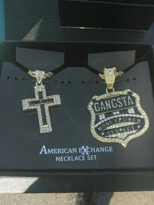 2 gold chains with charms for Sale in Pittsburgh, PA