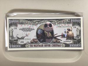 Nightmare Before Christmas, Jack Skellington $1000000 Bill for Sale in Wylie, TX
