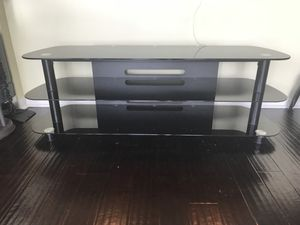 Modern TV stand - 3 Tier - Tempered Glass for Sale in Orlando, FL