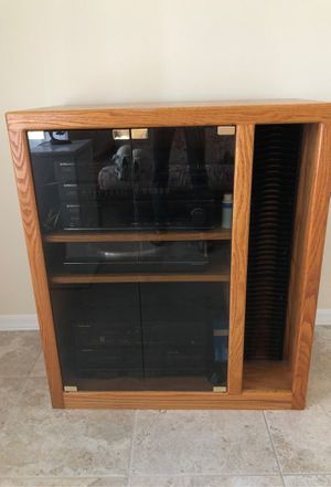 Solid Wood Stereo/TV Entertainment Center for Sale in Ruskin, FL
