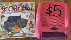 Kids Googly Eyes Board Game & Portable Lite Brite for Sale in NM, US