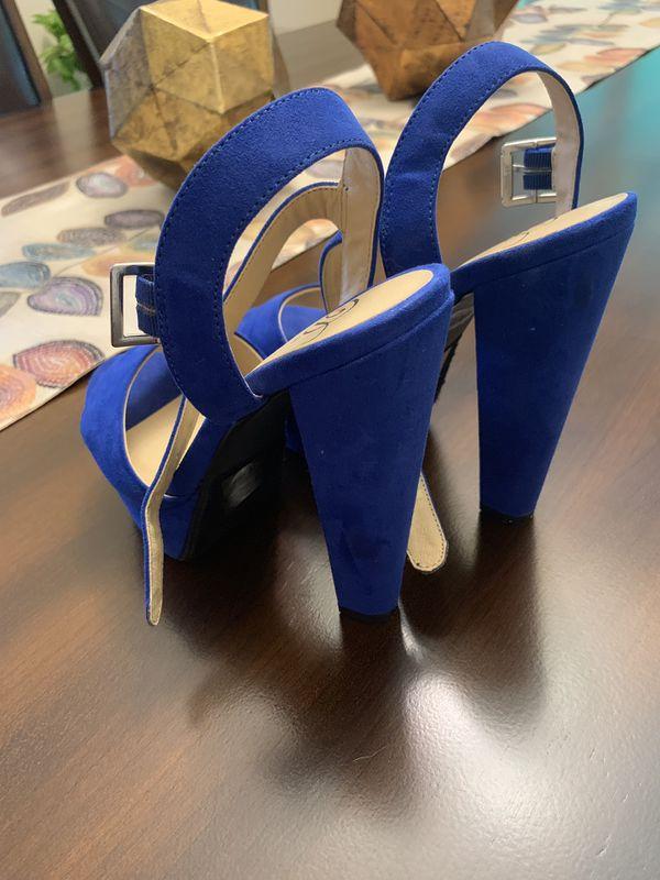 Blue shoes size 6