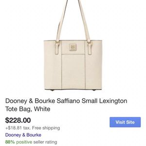 Dooney & Bourke Brand New White Leather Tote Purse for Sale in Henderson, NV