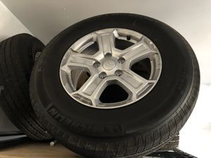 Jeep Wrangler wheels and tires (5 of them) - only 600 miles on them. for Sale in Ashburn, VA