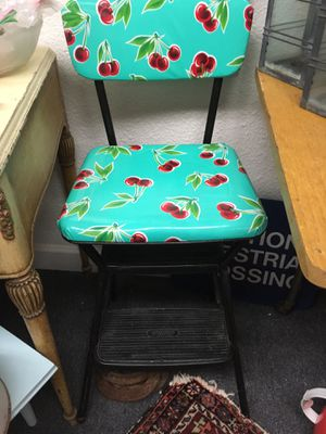 Vintage kitchen chair stool cherries for Sale in Oakdale, CA