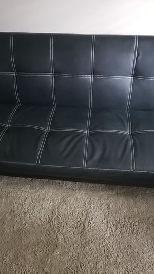 Leather Futon for Sale in Oswego, IL