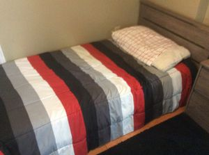 Twin Platform Bed and Mattress for Sale in Pompano Beach, FL