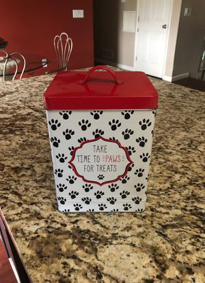 Dog treat tin container for Sale in Granville, OH