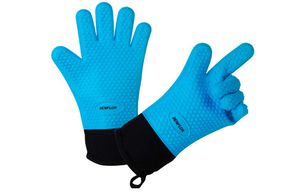 Benflor Grilling Gloves, Double-layer Silicone Gloves with 3.1 Inch Extra Cuff, Cotton Oven Mitt Waterproof Non-Slip for Baking and Cook1 Pair for Sale in Rancho Cucamonga, CA