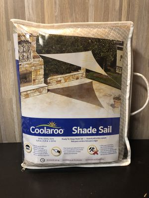 Coolaroo Outdoor Triangle Sun Shade Sail NEW for Sale in San Jose, CA