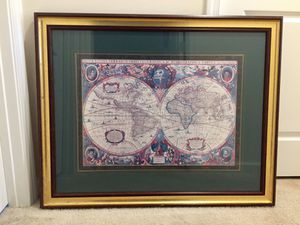 "Framed Map Art - ""Map Nova Totivas"" (From Paragon Picture Gallery, Artist: Hondius) for Sale in Stone Ridge, VA"