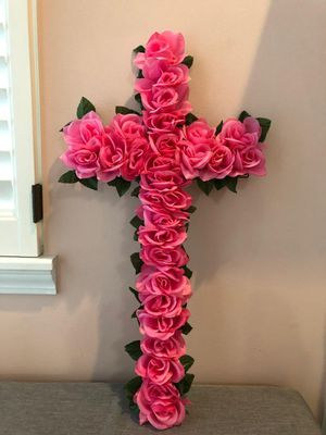 Handmade cross wreath for Sale in Orland Park, IL