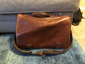 Cenzo brown leather work messenger bag for Sale in San Diego, CA