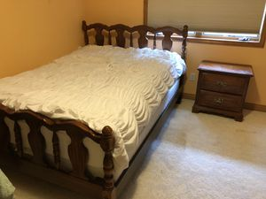 Queen-Sized Solid Maple Bedroom Set for Sale in Clinton Township, MI