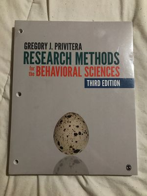Research methods textbook (PSYC 3) for Sale in Phillips Ranch, CA