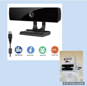 Webcam with Microphone,HD 1080P Webcam USB Computer Camera for Live Streaming Webcam,110 Degrees Wide-Angle 30fps for Laptop, Desktop, Conferencing, for Sale in Irwindale, CA