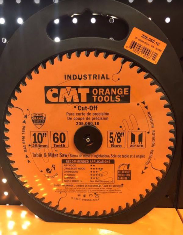 """10"""" Industrial Cut-Off ATB Blades soft/hardwood and plywood"""