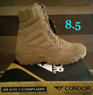 """New Men's Condor 8"""" Tactical Boots, Coyote for Sale in Lake Forest, CA"""